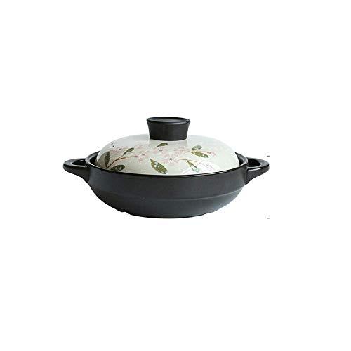 L.TSN Ustensiles de Cuisine Pot à ragoût Ustensiles de Cuisine en céramique pour Le Stockage de la Chaleur de Cuisson et l'économie d'énergie Saine et Durable - 2,5 L