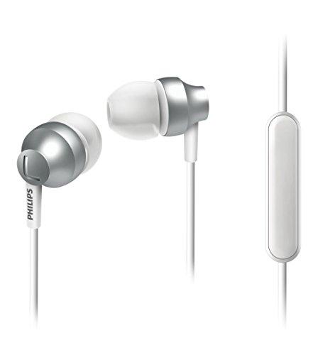 Philips SHE3855SL/00 In-ear hoofdtelefoon met microfoon (hoogwaardig design, versterkte kabel, rijke bas) zilver
