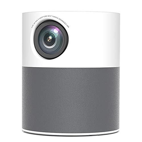 KIUY Proiettore 1080p, proiettore cinematografico Full HD per Esterni, Mini videoproiettore Portatile Che Supporta la correzione trapezoidale Compatibile con Smartphone e Laptop