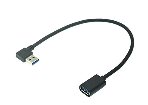 innov8 USB 3.0 Type A Male to Female Extension Cable 5Gbps Speed Extender Connector (Left Angle)