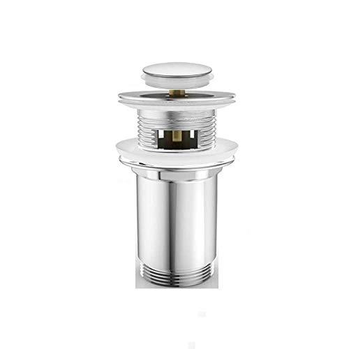 Ablauf Pop up Ablaufgarnitur für Waschbecken Push Open mit Überlauf Deckel Chrom klein AA04K