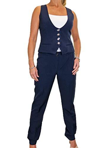 icecoolfashion Womens Waistcoat broek pak wasbare avond werk kantoor Clubbing 10-20