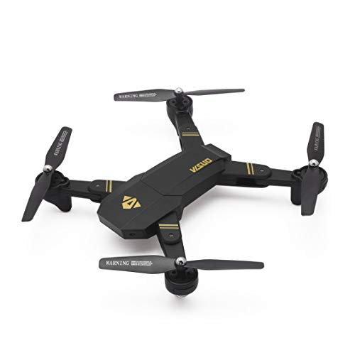Laurelmartina VISUO XS809HW 2.4G Plegable FPV Selfie Drone RC Quadcopter con cámara WiFi Altitude Hold Modo sin Cabeza 360 ° Flips