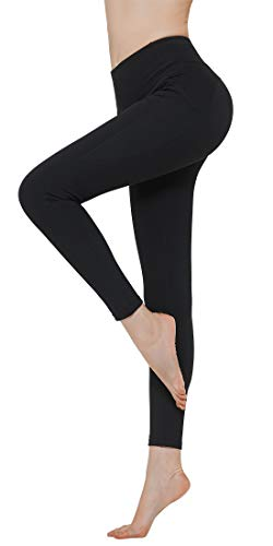 N-A Athletic Workout Compression Yoga Pants for Women Capris High Waist Non-See Through Tummy Control Exercise Leggings XXL Black