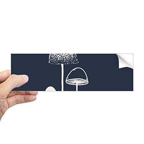 DIYthinker - Adhesivo rectangular con ilustración de hongos