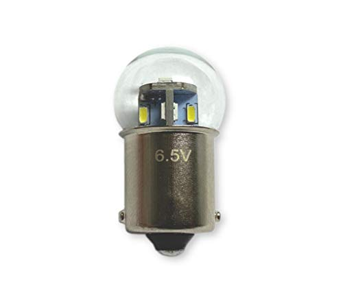 #81, 63, GM 142303 Miniature Bulb LED Replacement | 6.5-Volt | BA15S Base | Dimmable | Replaces Bulb Number: 81, 63, GM 142303