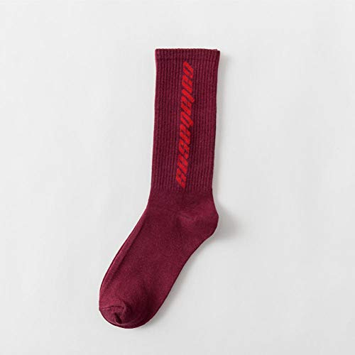 WLQXDD Spezielle Geschenksocken Hip Hop Herren Damen Socken Calabasas Socken Herren Happy Socken Meias Harajuku Calcetines Streetwear Casual Crew Socken