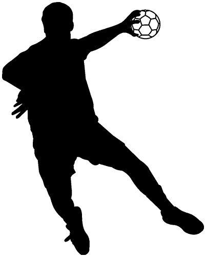 Samunshi® Autoaufkleber Handballspieler Fallwurf Aufkleber in 8 Größen und 25 Farben (10x8cm schwarz)