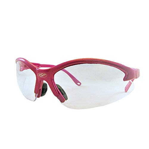 SSP Eyewear Womens Safety Glasses with Pink Frames & Clear Anti-Fog Lenses, COLUMBIA PK CL/AF