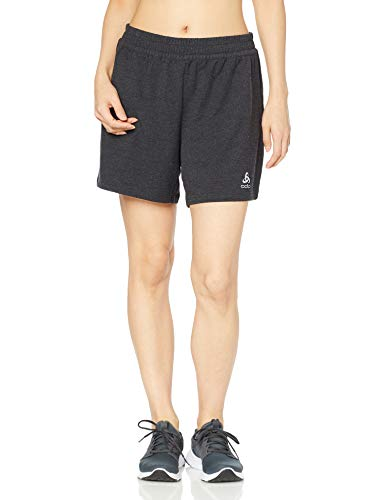 Odlo Milennium Element - Pantalones Cortos para Mujer, Mujer, Pantalones Cortos, 322391_15015_L, Color Negro, Large