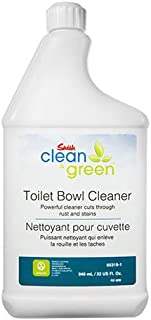 SWISH Clean & Green Toilet Bowl Cleaner, Safe, Non-Fuming, Acid Free, Removes Rust, Stains and Hard Water Spots, Daily Cleaning of Toilets, Urinals and Shower Stalls, 1 Qt - Ecologo Certified
