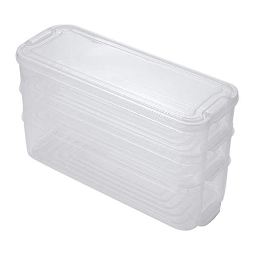 QFDM Lagerflasche Kitchen Kühlschrank Kabinett Gefrierfach Schreibtisch Organizer Kunststoff Aufbewahrungsbins Kühlschrank Aufbewahrungsbox Food Storage Container Flaschen, Gläser & Boxen