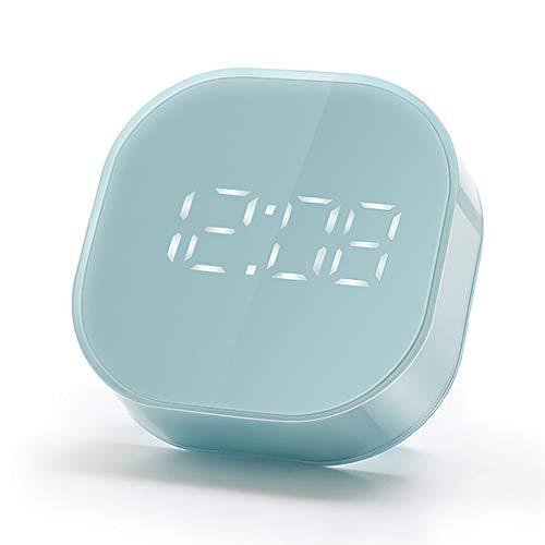 EXTSUD LED wekker digitale reiswekker alarmwekker wake-up wekker met snoozefunctie, 12-/24-uurs formaat, temperatuurfunctie voor binnenhuis, reizen en zware slaap