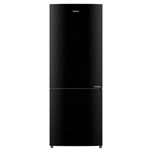 Haier 256 L 3 Star Inverter Frost-Free Double Door Refrigerator (HRB-2764BKS-E, Black Steel, Bottom Freezer)