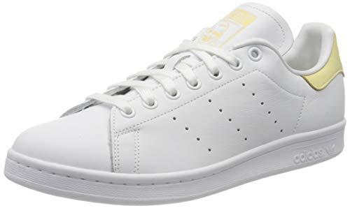 adidas Stan Smith, Scarpe Uomo, Bianco Cloud White Cloud White Easy Yellow, 42 2/3 EU