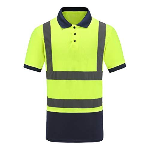 Warnschutz T-Shirt Warnschutzshirt Warnshirt (Gelb, 3XL-4XL)