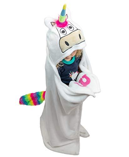 LazyOne Kinder/Kids Hooded Paard Fleece Deken (40 x 50in) (wit)
