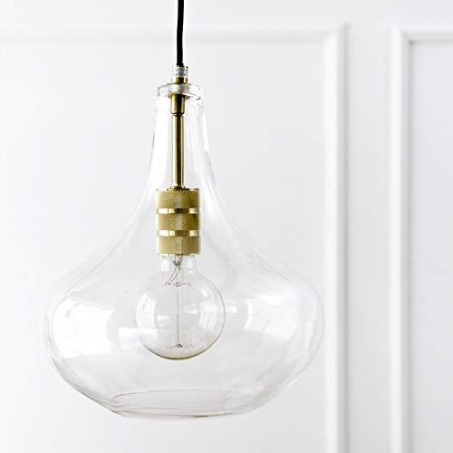 Kenay Home Lámpara de Techo Geila, Cristal y Dorado