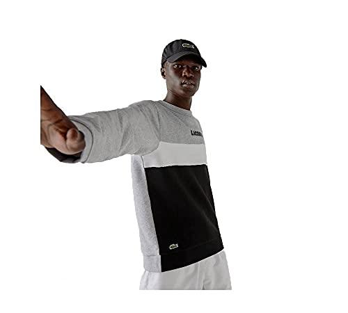 Lacoste Sport SH1538 Sweater, Argent Chine/Noir-Blanc, 7 Homme