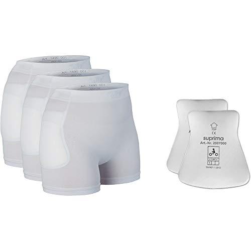 Suprima Set Hüftprotektor-Slip, 3 x 1-4900 und 1 x 2007 - weiss (M)