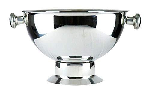 ASZS Edelstahl-EIS-Schüssel, Weinflasche Kühler 9L High Capacity Ice Cube Container Wiederverwendbare Party-Champagne Eimer Punch Bowl Wein-Kühler 9.10 (Color : B, Size : 9L)