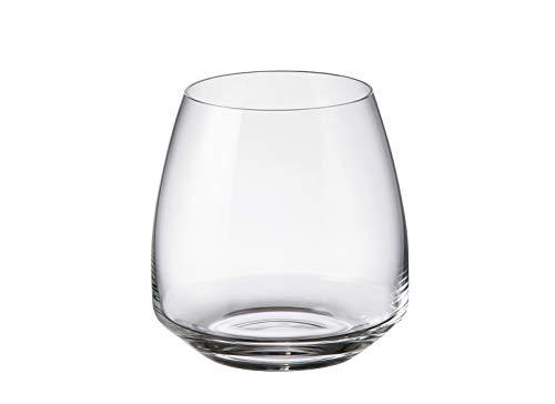 Set di 2 bicchieri da acqua in cristallo di Bohemia, 290 ml