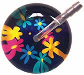 Buy Bargain Flower Power Navy Background Ultrascope Stethoscope w/ Adult Head & Navy Tubing