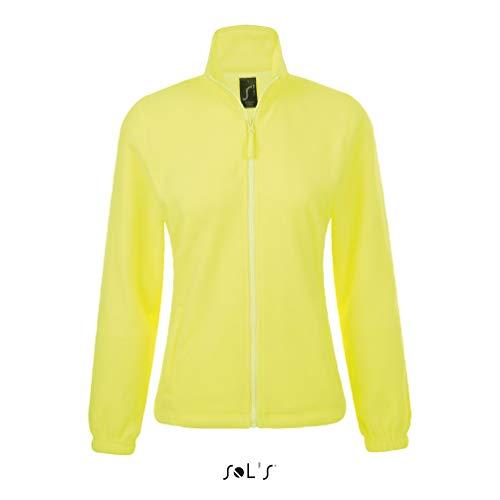 Sols - Damen Fleecejacke 'North' / Neon Yellow, M