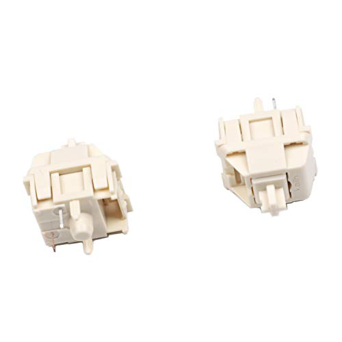 Novelkeys Cream Kailh MX SMD 5 Pin RGB Switches for Backlit Mechanical Gaming Keyboard (10 pcs, Novelty Cream)
