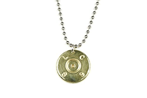 Authentic 50 Caliber Brass Bullet Necklace