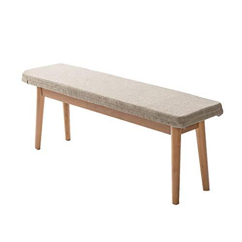 Jinxin-stools lange bank van massief hout eettafel kruk met kant bed bekleed