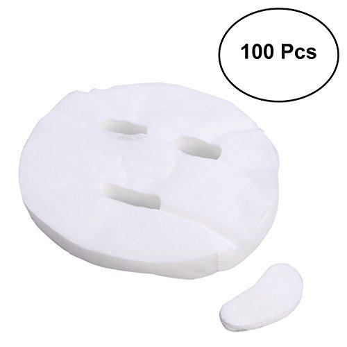 Frcolor Hoja de 100pcs Mascarilla Facial desechable blanco algodón cosmético de agrandamiento Máscara Facial