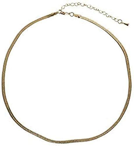 huangshuhua Collar Mujer Collar Collar Corto Cadena de Hueso Serpiente Neklace para Mujer