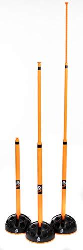 Football Flick Urban Agility Fußball-Trainings-Set, FFT003, schwarz/orange, Einheitsgröße