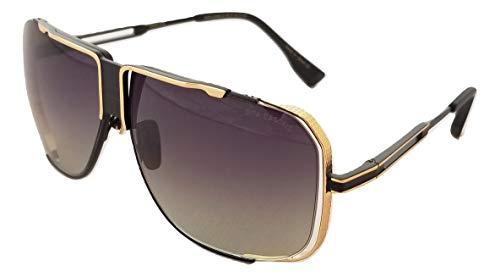 Dita Cascais DRX 2065 Mattschwarz Glänzender Goldrahmen mit grauer bis klarer Unisex-Sonnenbrille