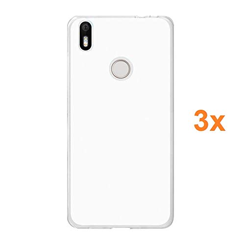 REY 3X Funda Carcasa Gel Transparente para BQ AQUARIS X - X Pro, Ultra Fina 0,33mm, Silicona TPU de Alta Resistencia y Flexibilidad