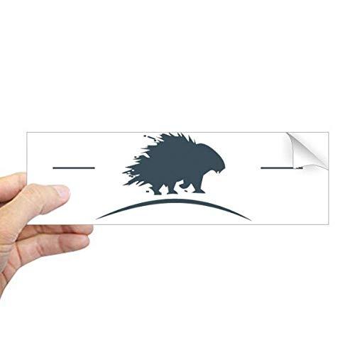 DIYthinker - Adhesivo Rectangular para Ventana de Ventana, diseño de Erizo, Silueta de Animales, Color Azul