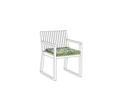 Beliani Cojín para Silla de jardín Verde Sassari