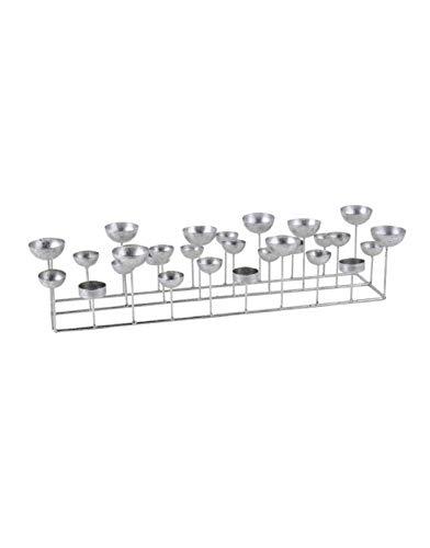 Gift Company Kerzenhalter Kerzenleuchter Kerzenständer Medusa rechteckig Silber