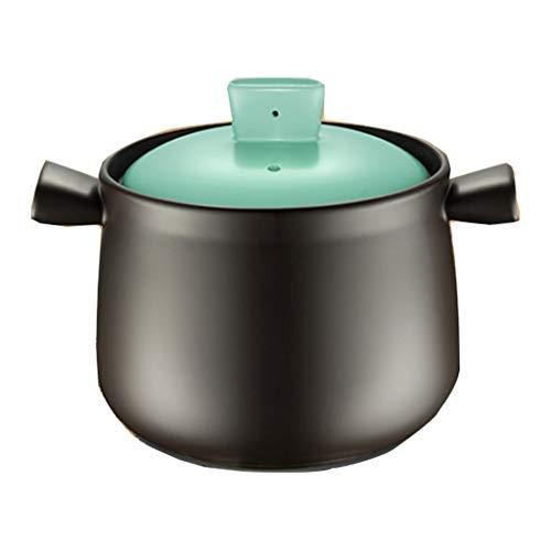 Cocottes Faitout Marmite Maison Batterie De Cuisine Professionnelle Casserole en Céramique pour Gaz À Flamme Nue Peut Être Chauffée (Color : Blue, Size : 28 * 20 * 21cm)