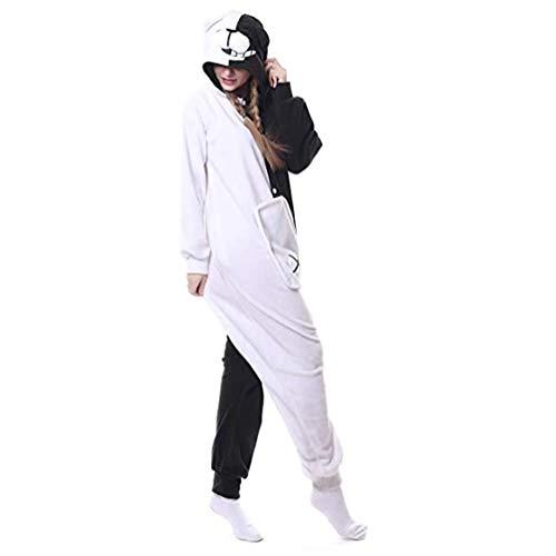 ROYAL WIND Unisex Adult Monokuma Bear Onesie Pajamas Anime Jumpsuit Halloween Cosplay Costume