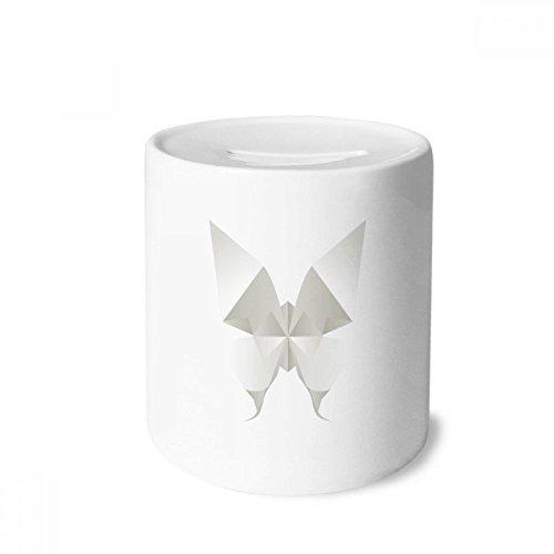 DIYthinker Modelo Blanco de la Mariposa Abstracta de Origami Caja de Dinero de Las Cajas de ahorros de cerámica Adultos Moneda de la Caja para niños
