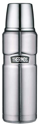 THERMOS 4003.205.047 Thermosflasche Stainless King, Edelstahl mattiert 0,47 l, Drehverschluss, 12 Stunden heiß, 24 Stunden kalt, BPA-Free