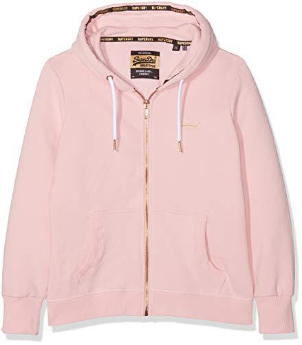 Superdry Damen ORANGE Label Elite Ziphood Kapuzenpullover, Pink (Fade Pink V2E), XS (Herstellergröße: 8)