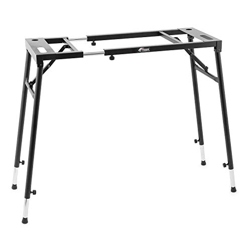 Tiger KYS21-BK Adjustable Platform Keyboard Stand - Flat Top Stand for Keyboards and Mixers