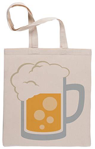 Capzy Bier Emoji Einkaufstasche Beige Shopping Bag Beige
