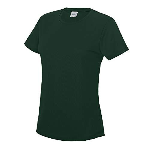 Just Cool Damen Sport T-Shirt unifarben Large,Flaschengrün