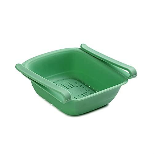XCYY Cocina Refrigerador Almacenamiento Rack Cesta Separado Frigorífico Soporte De Almacenamiento Holder Organizador De Alimentos (Color : Green)
