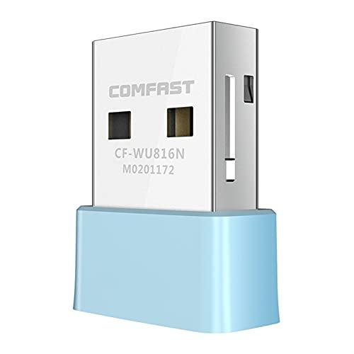 Mini Controlador de Tarjeta de Red inalámbrico USB WiFi Gratuito 150Mbps 2.4G Receptor WiFi USB 802.11 B/G/N Adaptador WiFi para Escritorio (Color : with Retail Box)