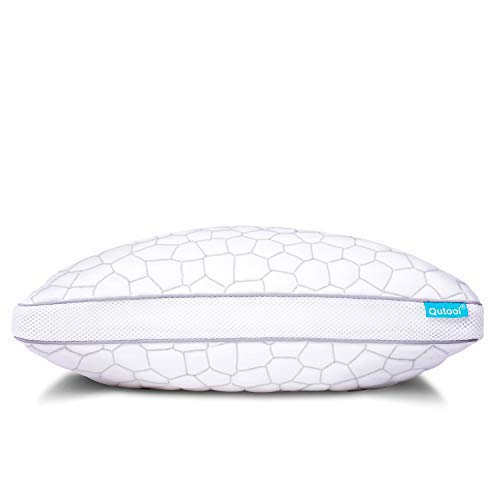 Shredded Memory Foam Pillows for Sleeping Cooling Bamboo Pillows with Adjustable Loft Sleeping Bed Pillow for Side and Back Sleeper Hypoallergenic Pillow with Washable Pillow Cover Queen Size
